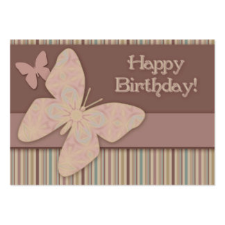 Butterfly Gift Tags Large Business Card