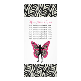 Butterfly Girl and Zebra Print Rack Cards