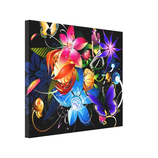 Butterfly Girl Canvas Canvas Print