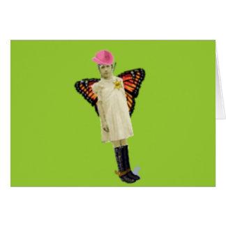 Butterfly Girl Card