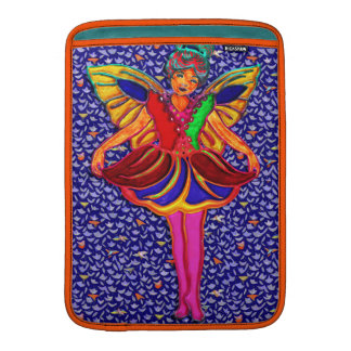 Butterfly Girl in Floral Petal Dress Sleeve For MacBook Air