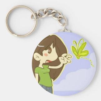 Butterfly Girl Keychain