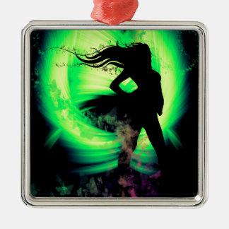 Butterfly Girl Metal Ornament