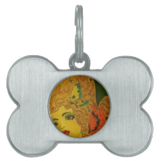 Butterfly Girl Pet Name Tag