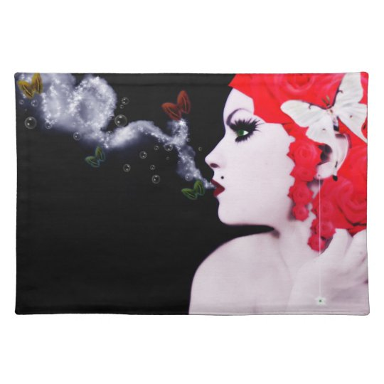 butterfly girl placemat