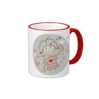 Butterfly Girl Ringer Mug