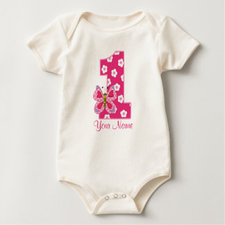 Butterfly Girls 1st Birthday Personalized Shirt