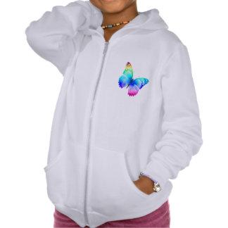 Butterfly Girls' American California Fleece Hoodie