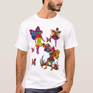 Butterfly Girls Bird Floral T-Shirt