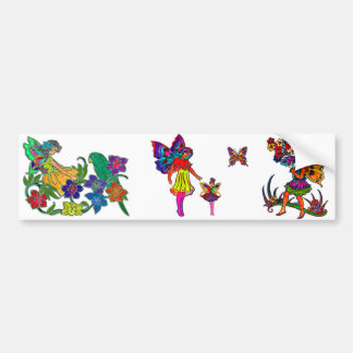 Butterfly Girls Floral Butterfly Bumper Stickers
