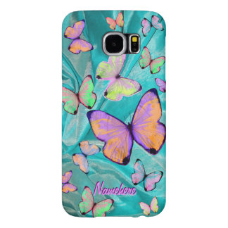 Butterfly Girly Case! Add Name! BFF, Daughter Gift Samsung Galaxy S6 Case