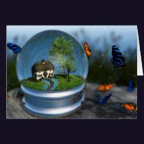 Butterfly Globe Card