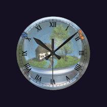 Butterfly Globe Clock