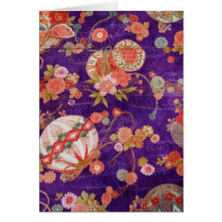 BUTTERFLY GLOBE KIMONO PRINT COLLECTION CARD
