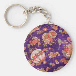 BUTTERFLY GLOBE KIMONO PRINT COLLECTION KEYCHAIN