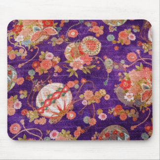 BUTTERFLY GLOBE KIMONO PRINT COLLECTION MOUSE PAD