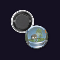 Butterfly Globe Magnet