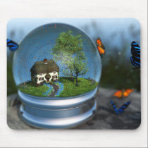 Butterfly Globe Mousepad