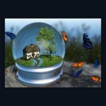 Butterfly Globe Photo Print