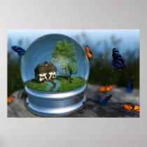 Butterfly Globe Print