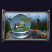 Butterfly Globe Serving Tray