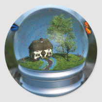 Butterfly Globe Stickers