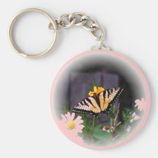 Butterfly Globed - pink Keychains