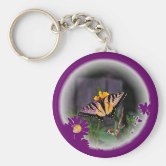 Butterfly Globed - purple Key Chains