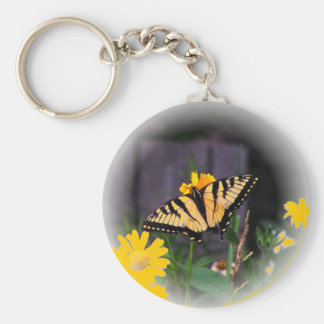 Butterfly Globed - yellow Key Chain