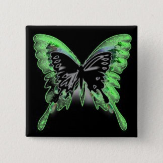 Butterfly Glow-button Pinback Button