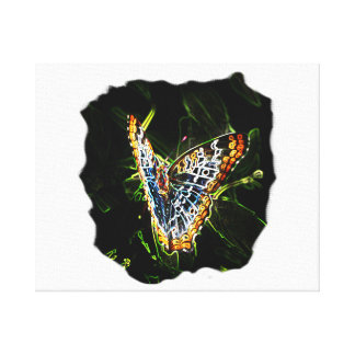 Butterfly Glowing Edges Cutout Canvas Print