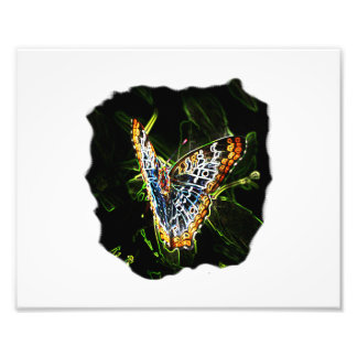 Butterfly Glowing Edges Cutout Photo Print