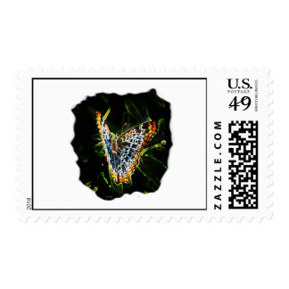 Butterfly Glowing Edges Cutout Postage Stamp