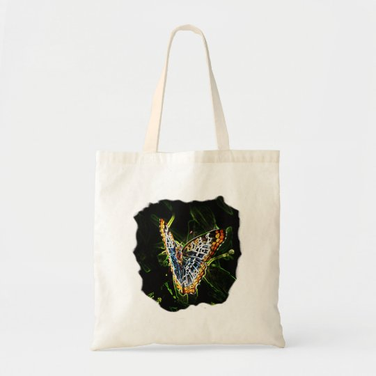 Butterfly Glowing Edges Cutout Tote Bag