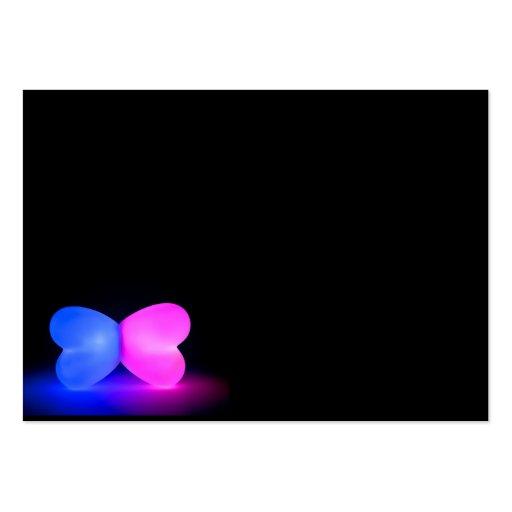 Butterfly glowing shape on black background business card for Business card background black