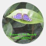 Butterfly - GO GREEN! Sticker