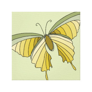 Butterfly Gold Olive Green Decor Art