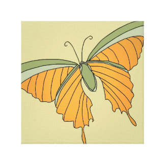 Butterfly Gold Olive Green Decor Art 2