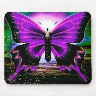 Butterfly Graffitis Mouse Pad