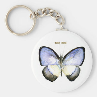 Butterfly: Green-Banded Blue Keychain