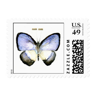 Butterfly Green-Banded Blue Postage Stamp