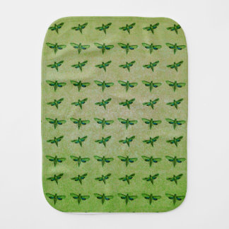 Butterfly green+blue baby burp cloth