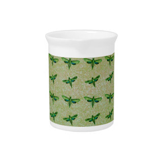Butterfly green+blue beverage pitcher