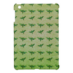 Butterfly green+blue iPad mini covers