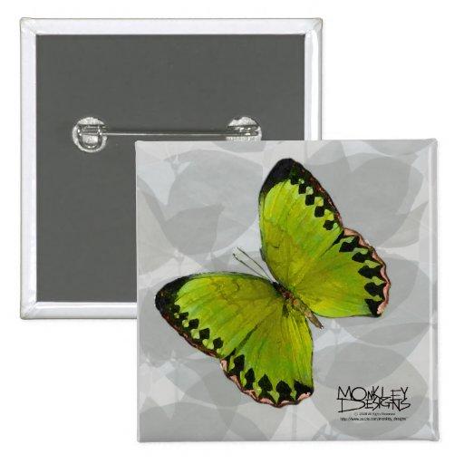 Butterfly - Green - Button