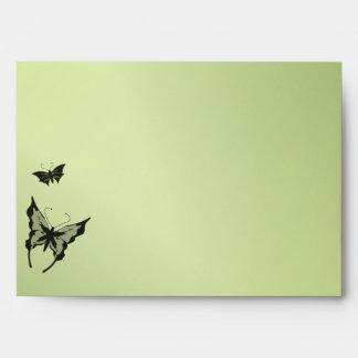 Butterfly Green Envelope