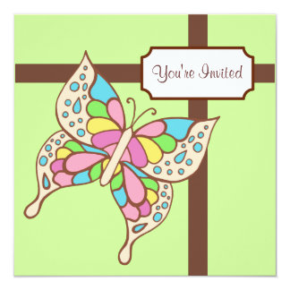 Butterfly Green Invitations