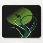 Butterfly green mousepads