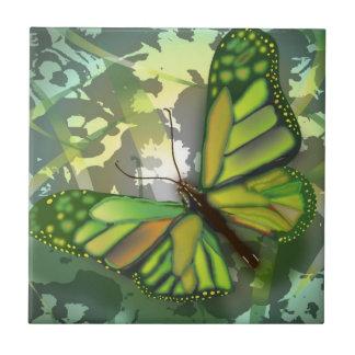 Butterfly Green Tile