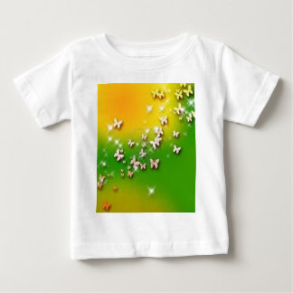 butterfly green-yellow baby T-Shirt